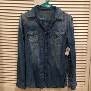 NWT Mavi Jeans Co. Chambray button down